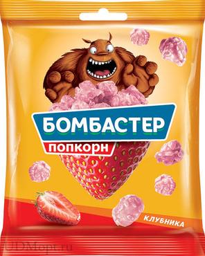 «Бомбастер», попкорн карамельный со вкусом клубники, 50г оптом и в розницу
