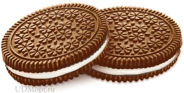 Печенье–сэндвич с шоколадно-сливочным вкусом (коробка 4кг) оптом и в розницу