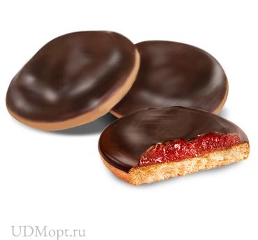Печенье «Клубника», сдобное (коробка 2кг) оптом и в розницу