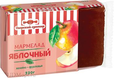 «Озёрский сувенир», мармелад «Яблочный», 100% натуральный продукт, 320г оптом и в розницу
