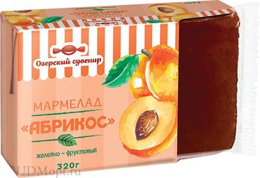 «Озёрский сувенир», мармелад «Абрикос», 100% натуральный продукт, 320г оптом и в розницу
