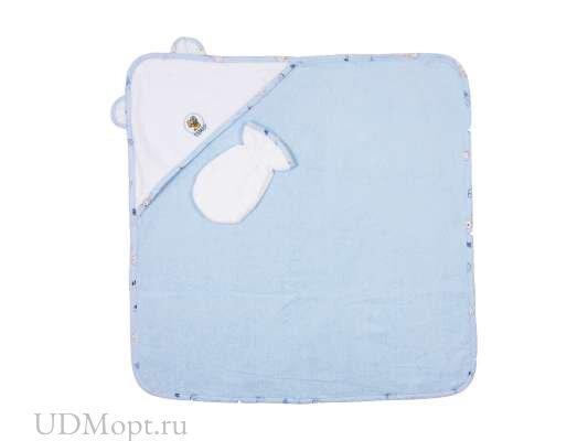 Комплект для купания (полотенце, рукавичка, полотенце с капюшоном) оптом и в розницу