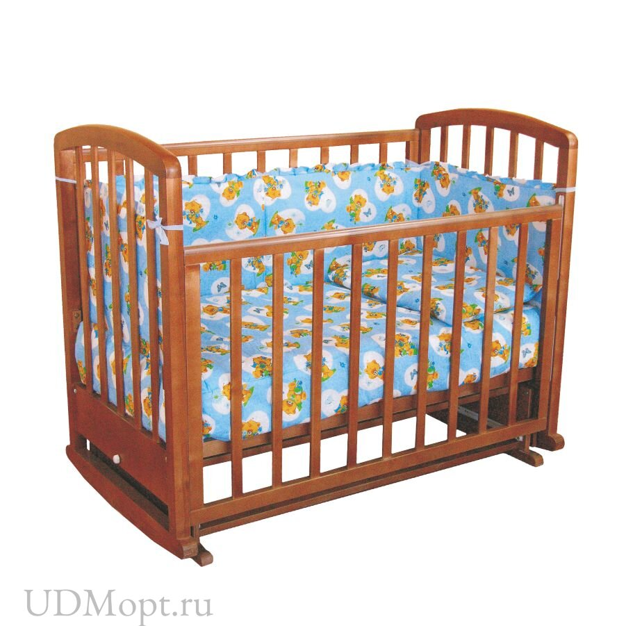 Кровать детская Фея 610 темный мед оптом и в розницу