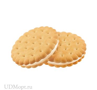 Печенье-сэндвич со сливочным кремом, затяжное (коробка 3,4кг) оптом и в розницу
