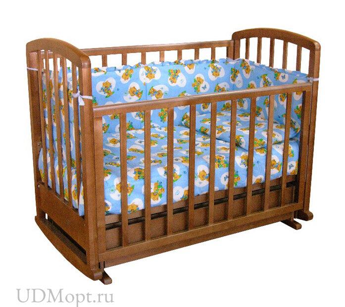 Кровать детская Фея 611 темный мед оптом и в розницу