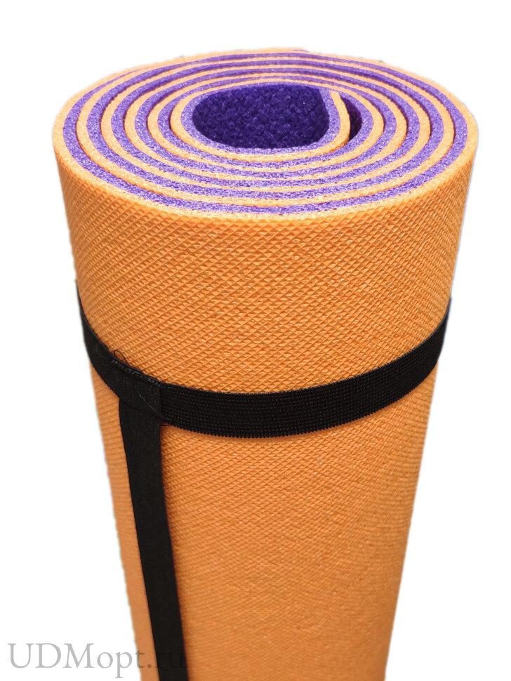 Коврик для йоги и фитнеса OptimaPlus 1800х600х8мм оптом и в розницу