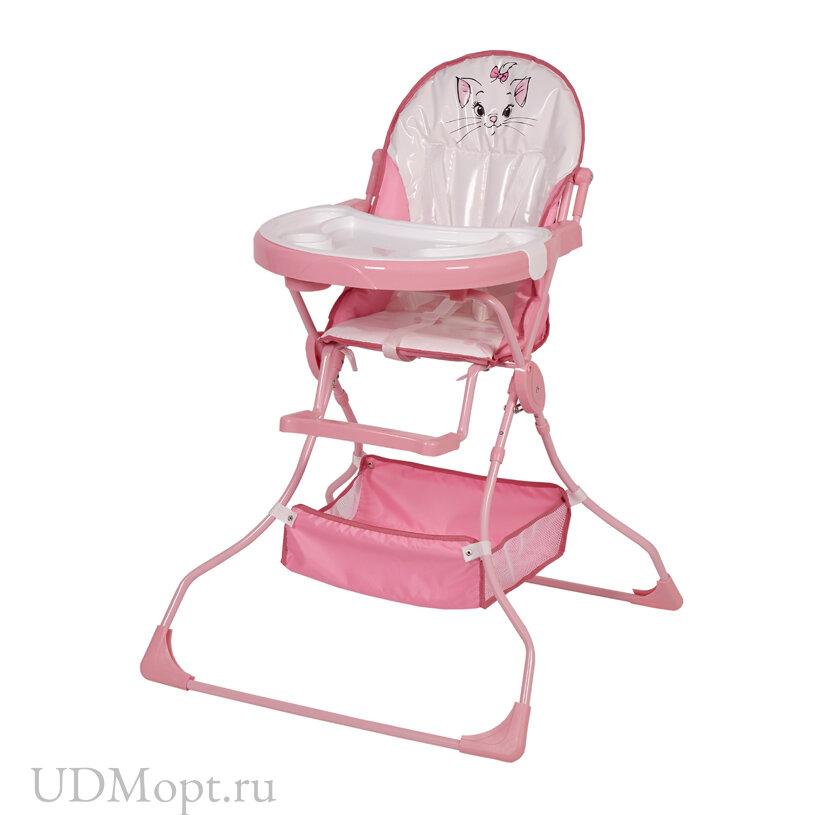 Стульчик для кормления Polini kids Disney baby 252 Кошка Мари, розовый оптом и в розницу
