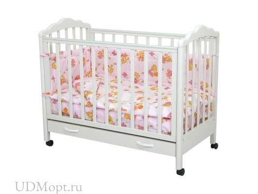 """Комплект в кроватку Фея """"Мишки"""" 4 предмета, розовый оптом и в розницу"""