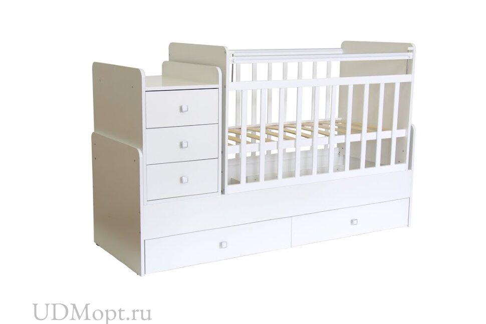 Кровать детская Фея 1100 белый оптом и в розницу