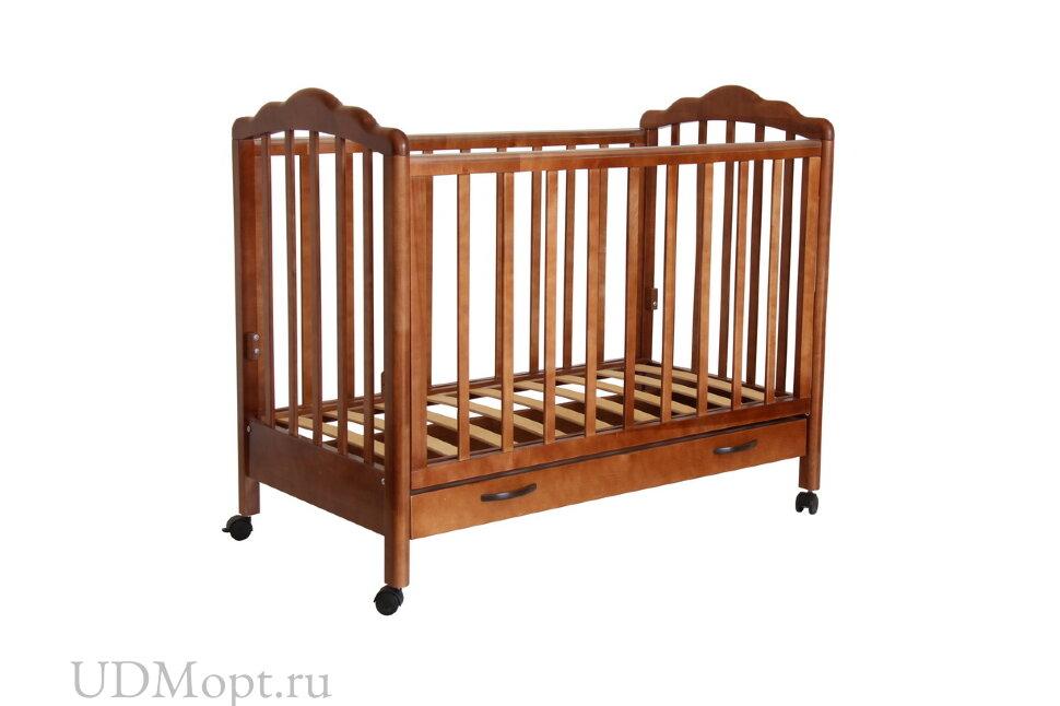 Кровать детская Фея 620 темный мед оптом и в розницу