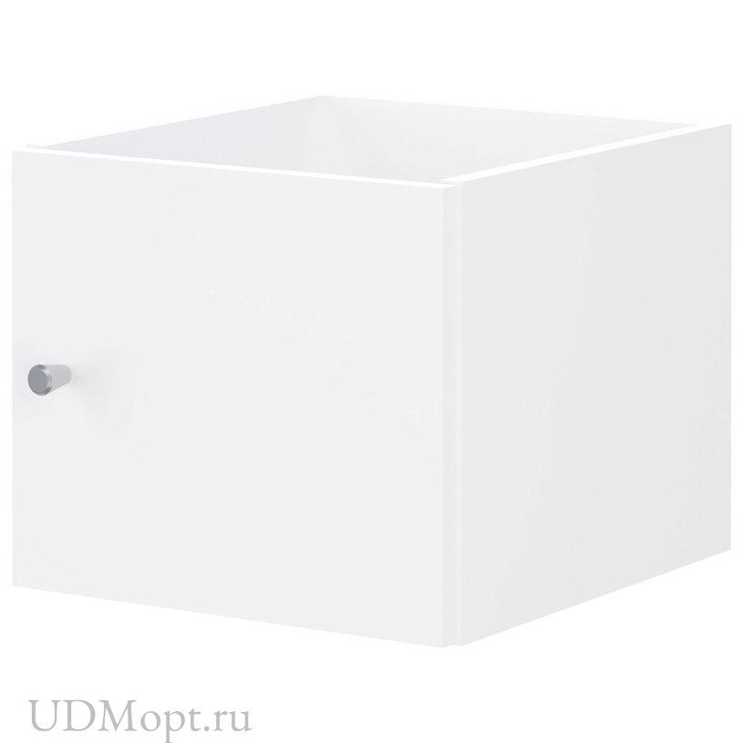 Элемент встраиваемый с 1 дверью для стеллажа Polini Home Smart, белый оптом и в розницу