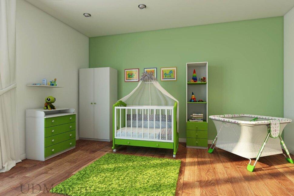 Кровать детская Фея 621 белый-лайм оптом и в розницу