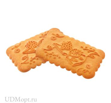 Печенье «Земляника со сливками», сахарное (коробка 5кг) оптом и в розницу