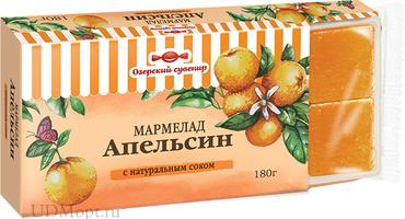«Озёрский сувенир», мармелад «Апельсин», желейный, в виде кубиков, 180г оптом и в розницу