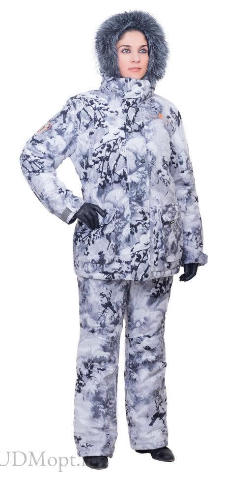 Костюм женский Ангара-зима / мембранное трикотажное полотно / снегири ((40-42/158-164) ) оптом и в розницу