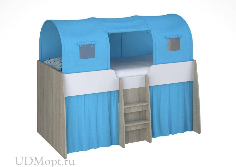 Игровой тент для кровати-чердака Polini kids Simple 4100, голубой оптом и в розницу
