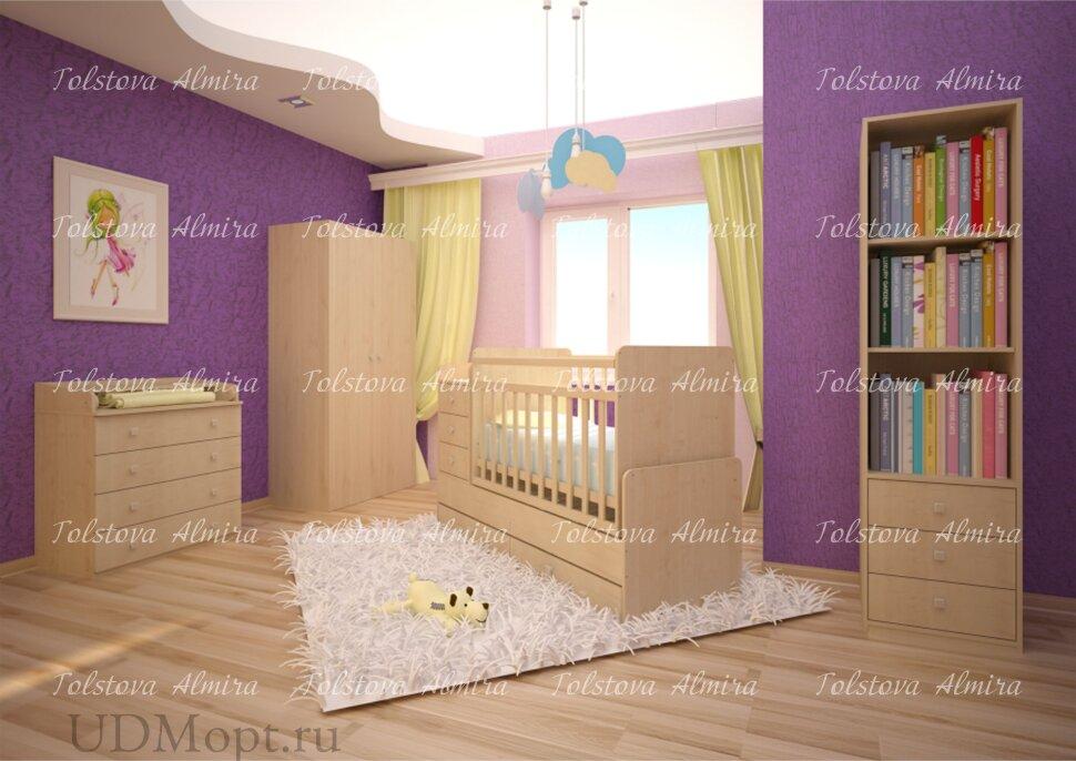 Кровать детская Фея 1100 клён оптом и в розницу
