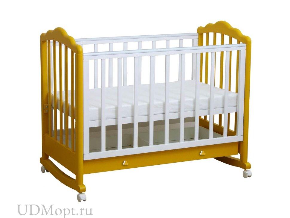 Кровать детская Фея 621 белый-солнечный оптом и в розницу