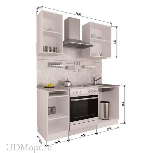 Кухонный гарнитур Polini Home Urban 1600,  белый  оптом и в розницу