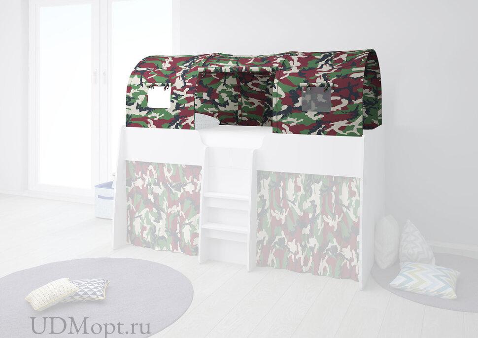 Игровой тент для кровати-чердака Polini kids Simple 4100, камуфляж оптом и в розницу