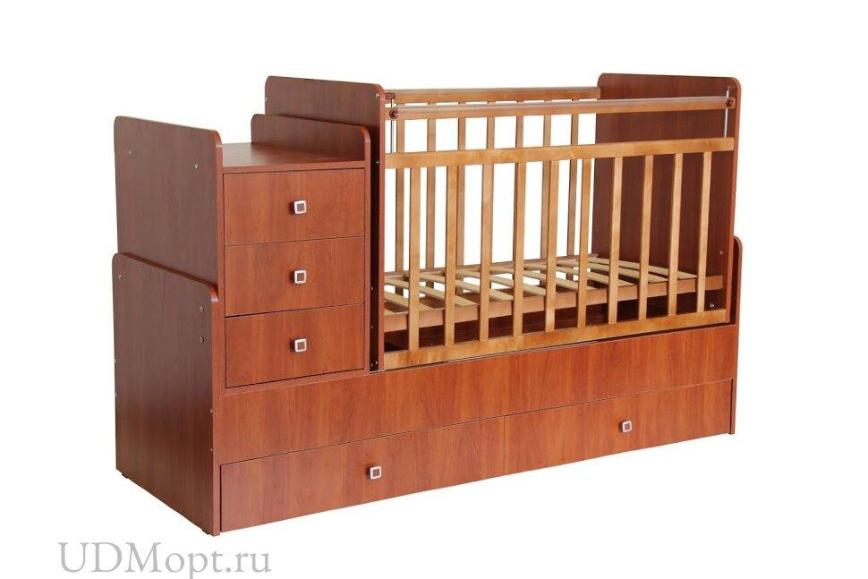 Кровать детская Фея 1100 орех оптом и в розницу