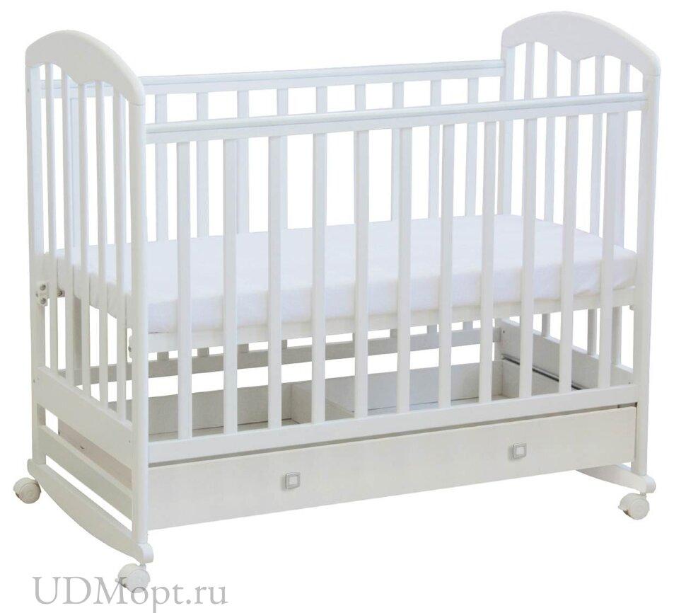 Кроватка детская Polini kids Simple 325, белый оптом и в розницу