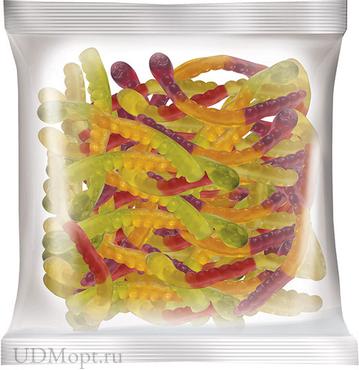 Мармелад жевательный со вкусом вишни и маракуйи, колы и лайма, черной смородины и апельсина, 70г оптом и в розницу