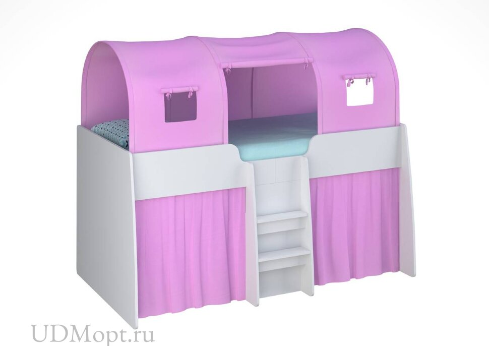 Игровой тент для кровати-чердака Polini kids Simple 4100, розовый оптом и в розницу