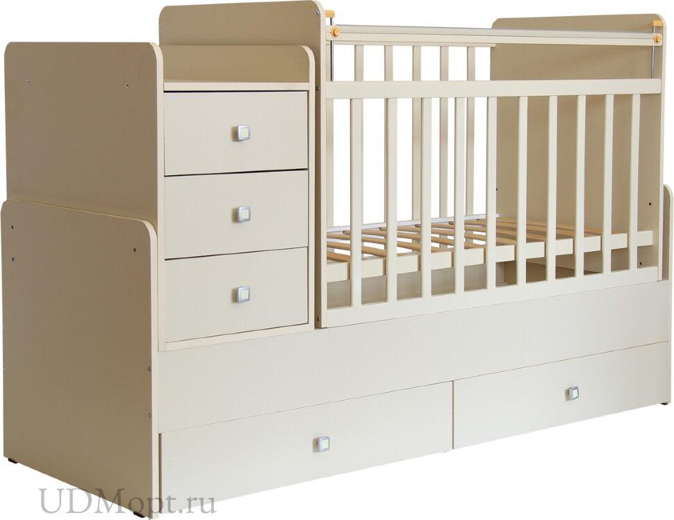 Кровать детская Фея 1100 слоновая кость оптом и в розницу