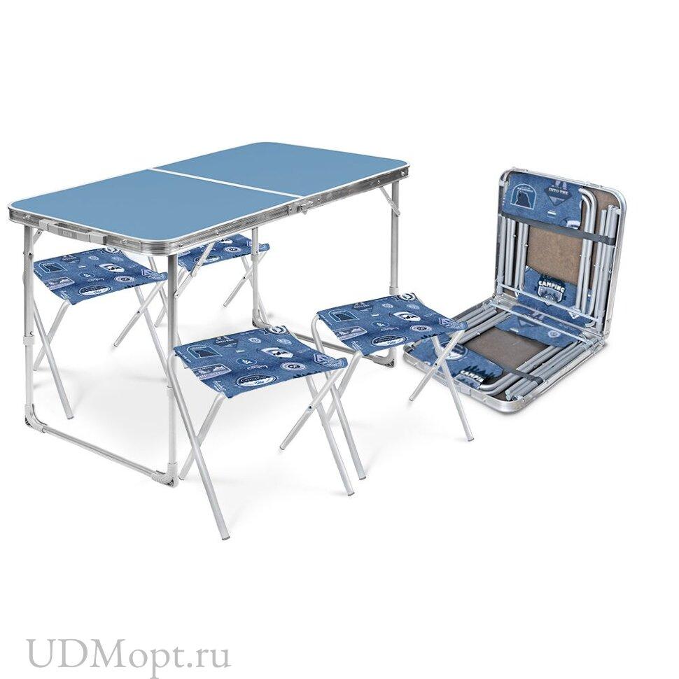 Комплект мебели складной Nika ССТ-К2, стол + 4 стула оптом и в розницу