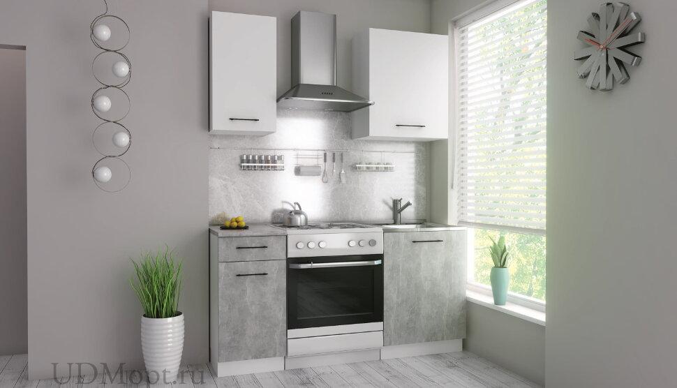 Кухонный гарнитур Polini Home Urban 1600,  белый-бетон оптом и в розницу
