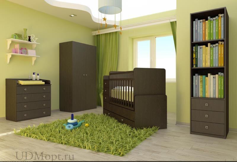 Кровать детская Фея 1100 венге оптом и в розницу