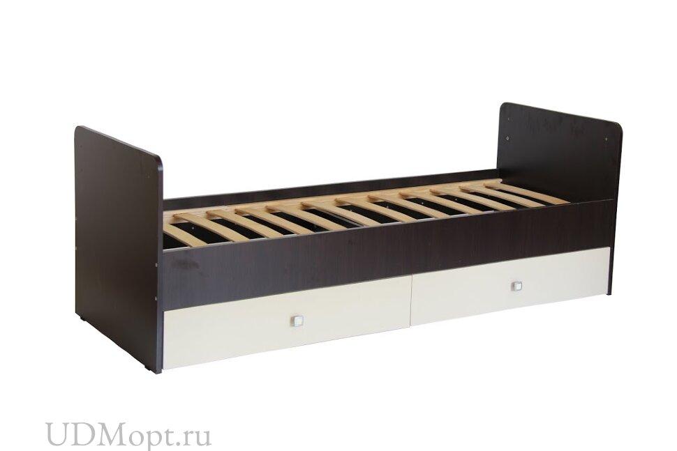 Кровать детская Фея 1100 венге-бежевый оптом и в розницу