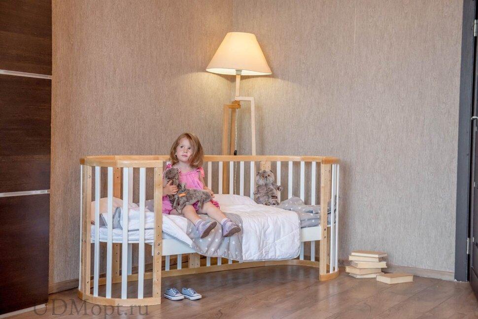 Кроватка детская Polini kids Simple 910, белый оптом и в розницу