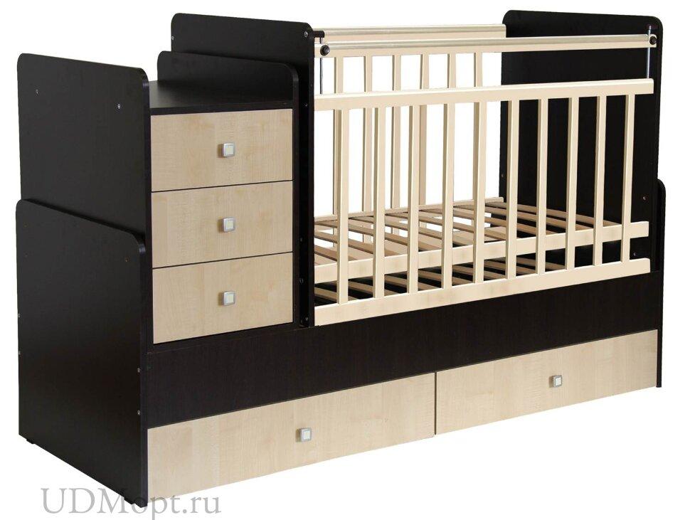 Кровать детская Фея 1100 венге-клён оптом и в розницу