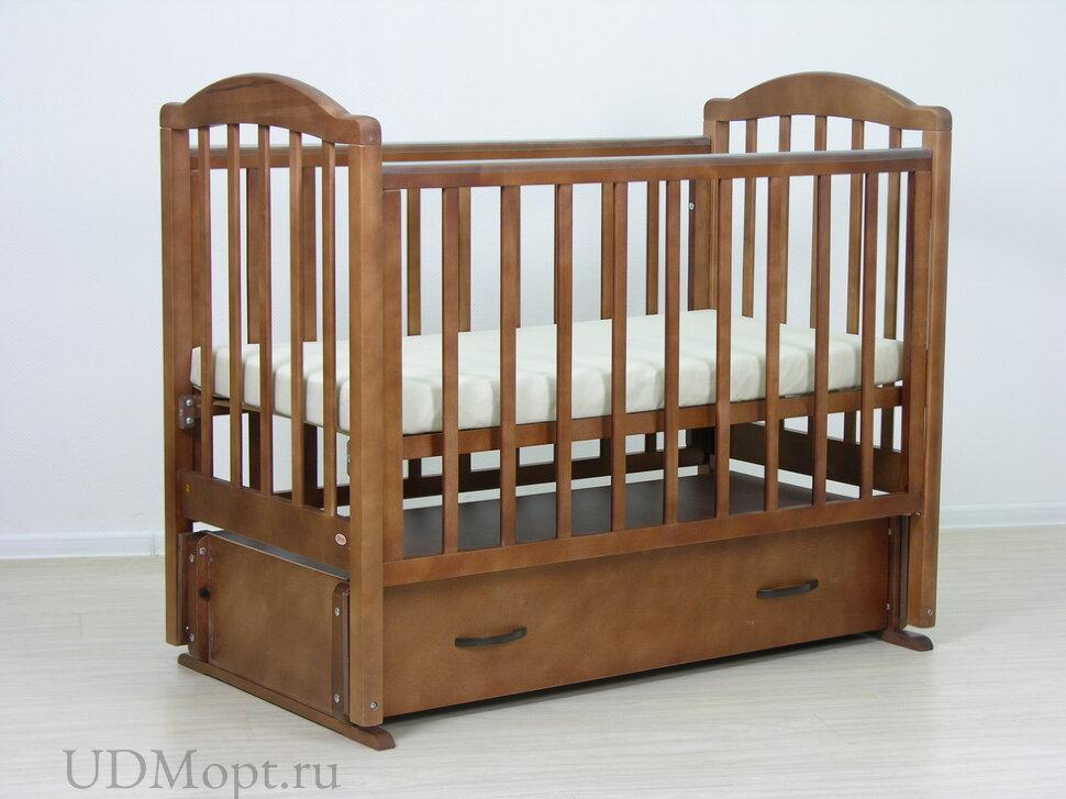 Кровать детская Фея 660 темный мед оптом и в розницу
