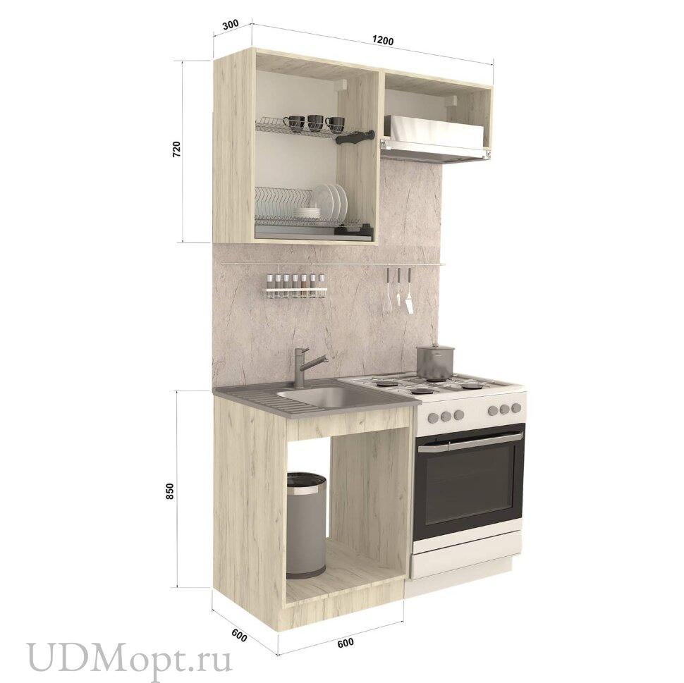 Кухонный гарнитур Polini Home Craft 1200, синий оптом и в розницу