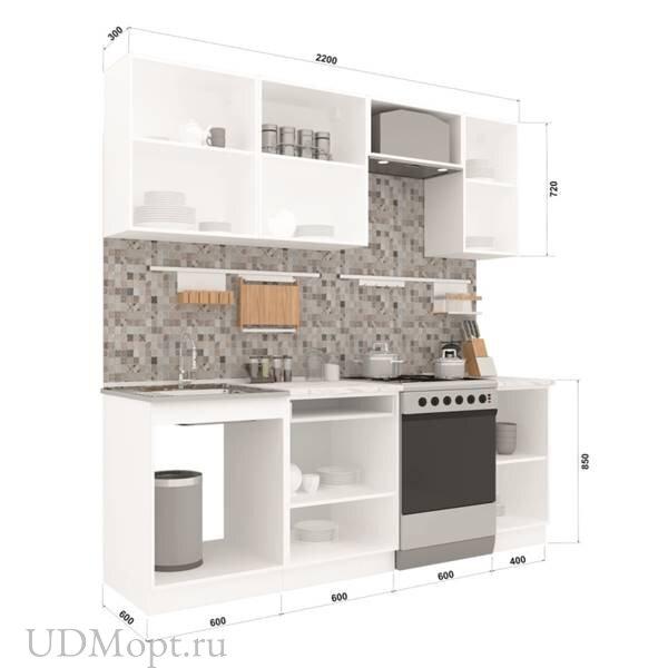 Кухонный гарнитур Polini Home Urban 2200,  белый оптом и в розницу