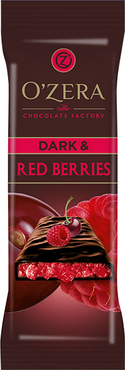 «OZera», шоколад горький  Dark & Red berries, 40г оптом и в розницу