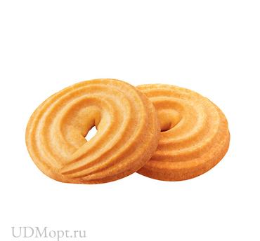 Печенье «Ванильное кольцо», сдобное (коробка 3,5кг) оптом и в розницу