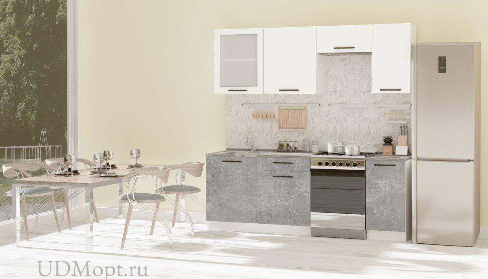 Кухонный гарнитур Polini Home Urban 2200,  белый-бетон оптом и в розницу