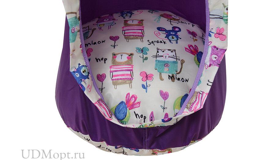Детское подвесное кресло Polini kids Кокон, фиолетовый оптом и в розницу