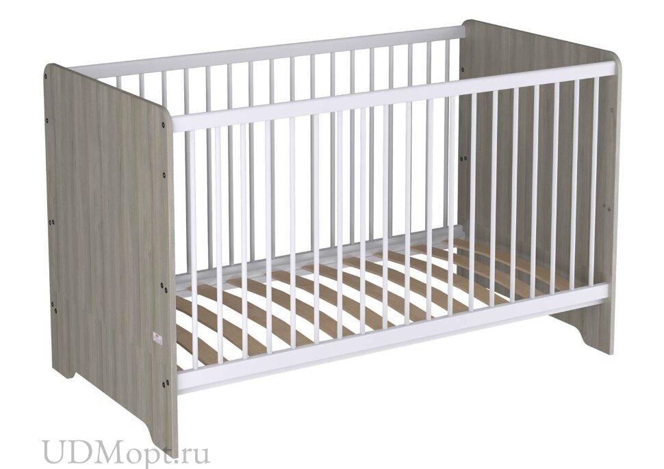 Кроватка детская Polini kids Simple Nordic 140х70 см, вяз, РОССИЯ оптом и в розницу