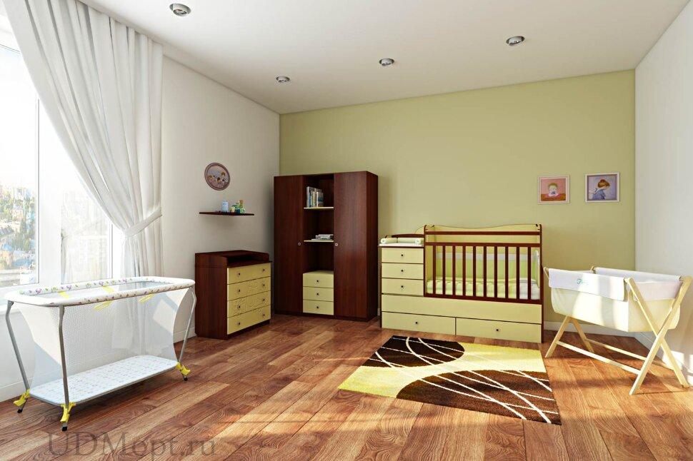 Кровать детская Фея 1400 лимон оптом и в розницу