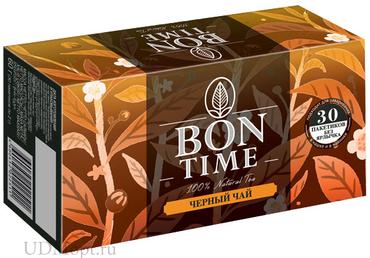 «Bontime», bontime чай черный, 30 пакетиков без ярлычка, 60г оптом и в розницу