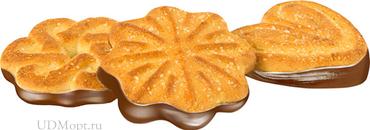 Печенье «Чайное», сахарное с глазированным дном (коробка 4кг) оптом и в розницу