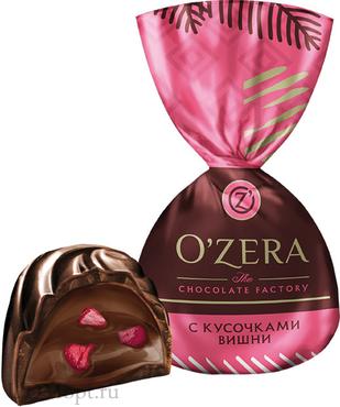 «OZera», конфеты с дробленой вишней (упаковка 1кг) оптом и в розницу