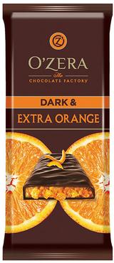 «OZera», шоколад горький Dark & Extra Orange, 90г оптом и в розницу