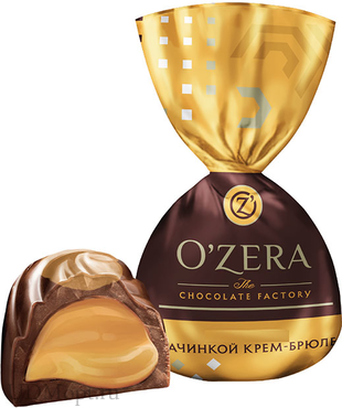 «OZera», конфеты с молочно-сливочной начинкой со вкусом крем-брюле (упаковка 1кг) оптом и в розницу