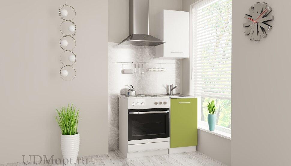 Кухонный гарнитур Polini Home Urban 450,  белый-зеленый оптом и в розницу